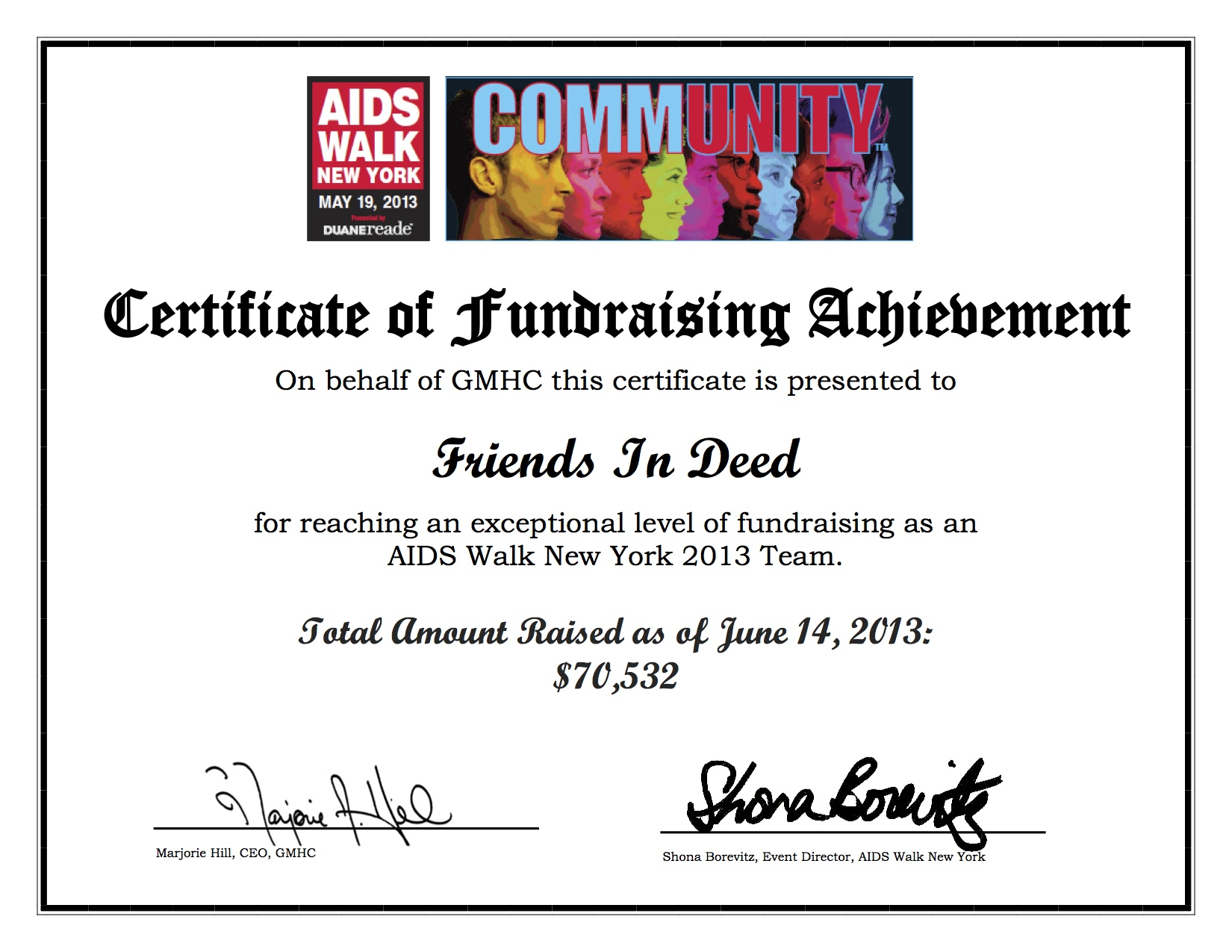 The Friends In Deed Blog Fundraising